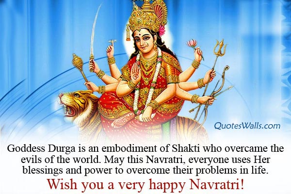 Happy Navratri Wishes Quotes for Whatsapp