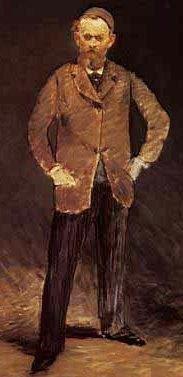 Autorretrato de Edouard Manet parado de cuerpo entero