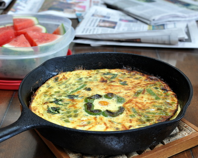 Green Pepper Frittata, Best Recipes for Everyday 2015 ♥ AVeggieVenture.com.