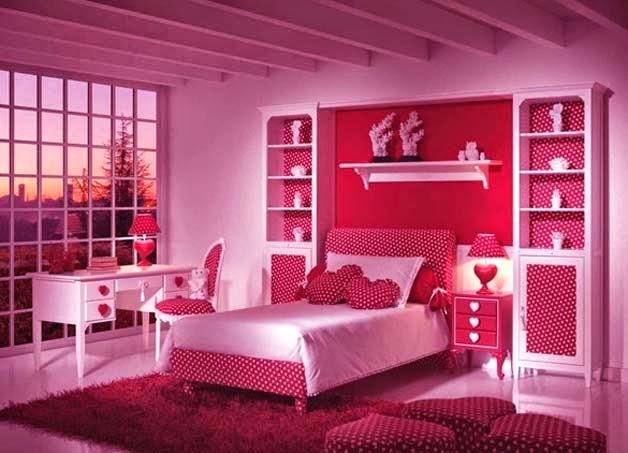 Habitaciones para niñas en color rosa 14