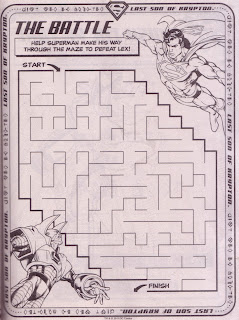 A maze from Superman Jumbo Coloring And Activity Book