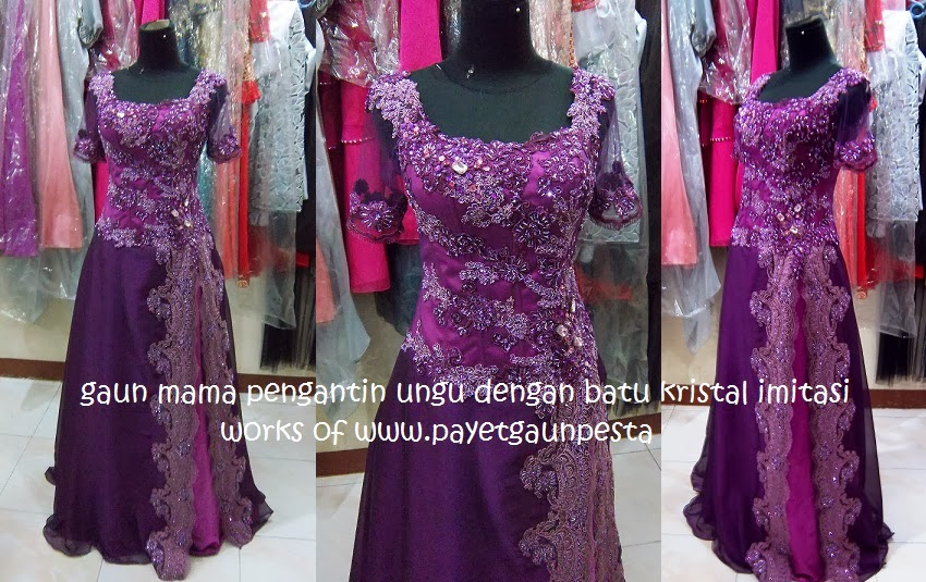 model gaun pesta brokat modern