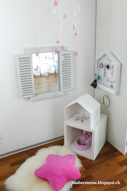 Kinderzimmer, Schmuckkasten, Shabby Fensterspiegel