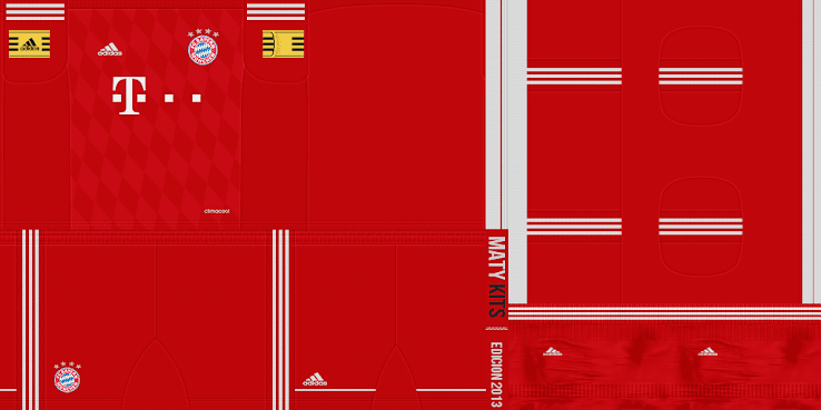 PES 2013 Bayern Mnchen 13 14 Home Kit by MatyKits