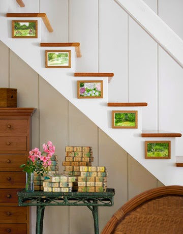 Awesome stair wall decorating ideas