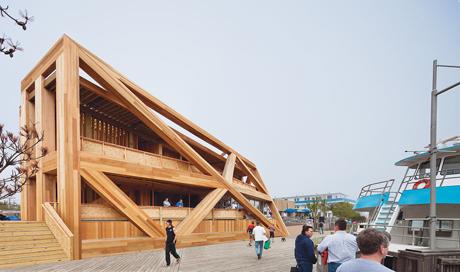 desain bangunan unik dari kayu