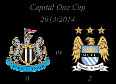 Newcastle United vs Manchester City Capital One Cup 20132014
