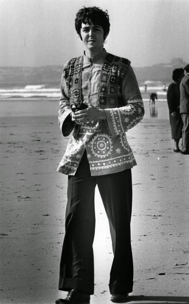 Paul McCartney on beach