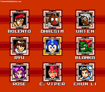 megaman vs street fighter 25th anniversary characters