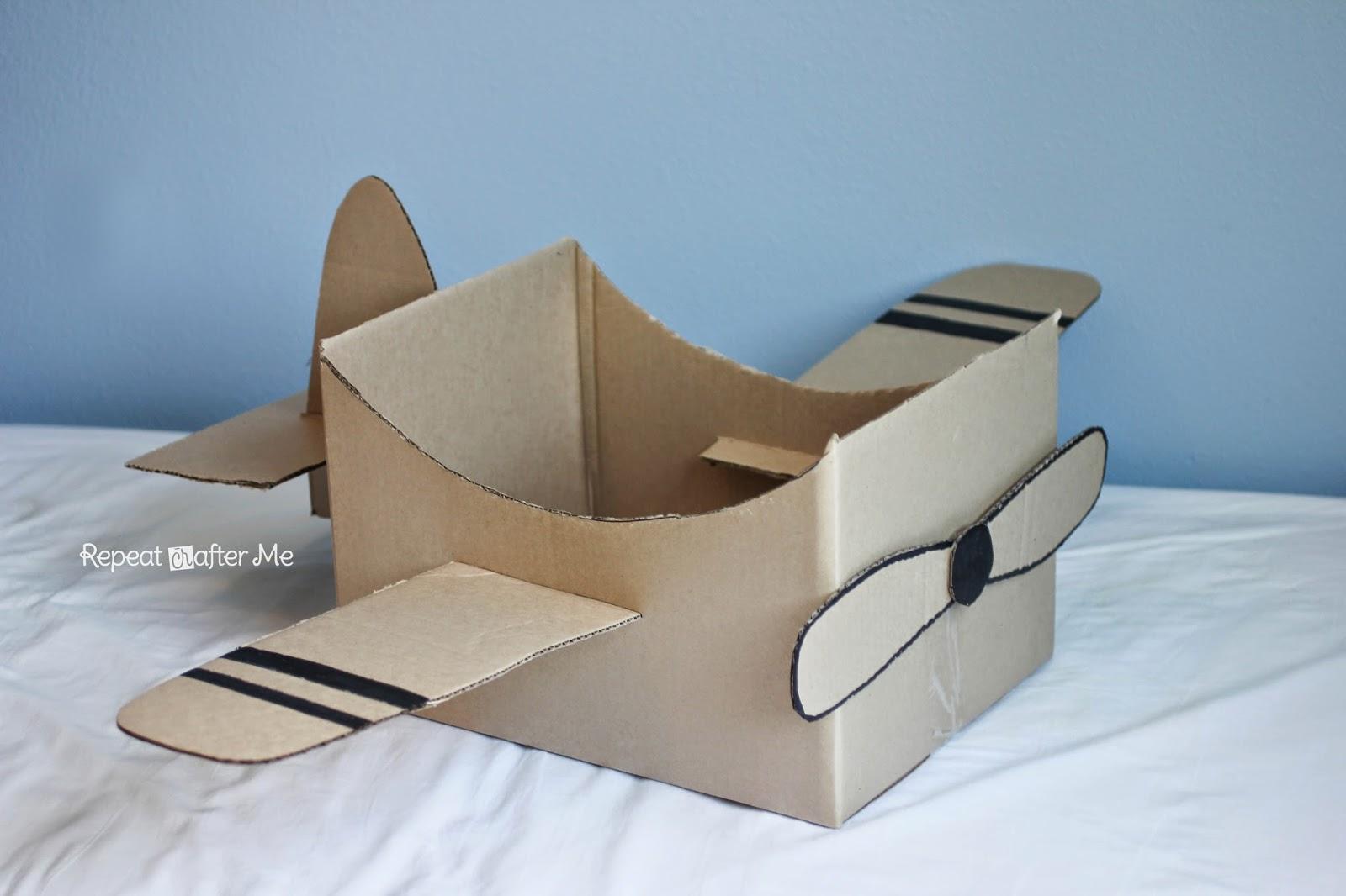 Поделки своими руками самолёт из коробки
