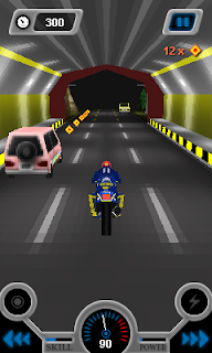 Screenshots of the 3D Moto 2 for java mobile, phone.