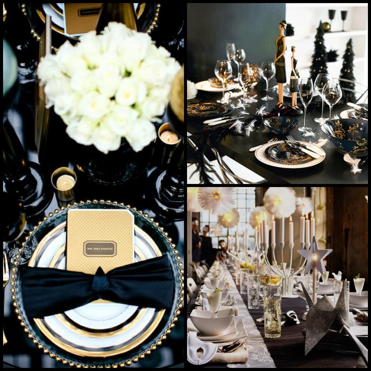 Capodanno tema e tavola per un party da ricordare la casa dello stile - Decorazioni tavola capodanno fai da te ...