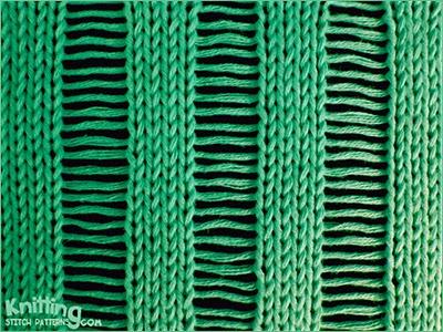 Dropped Stitch Cast off Knitting Stitch Patterns