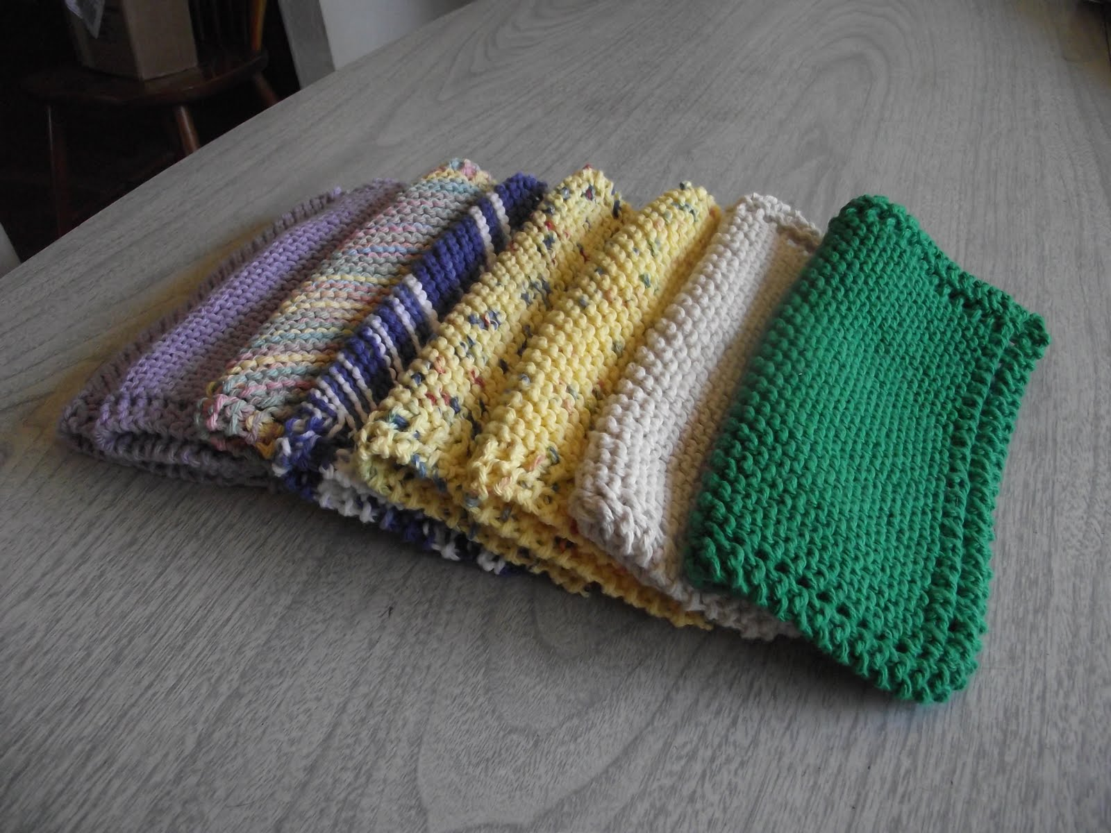 Pattern Knitted Dishcloth : Sara vs. Sarah: Knitted Dishcloth with Pattern/Tutorial