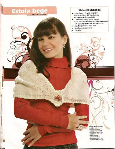 Estola em tricot