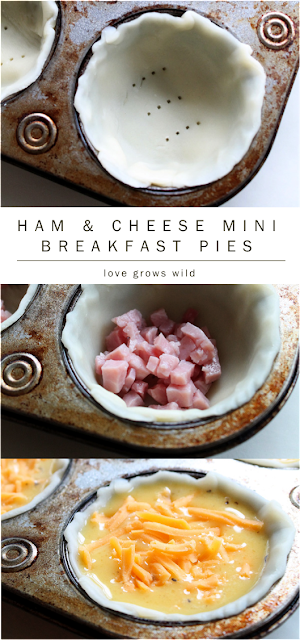 Ham and Cheese Mini Breakfast Pies by LoveGrowsWild.com for Sumo's Sweet Stuff