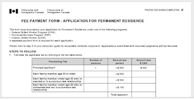 Modified Fee Payment Form