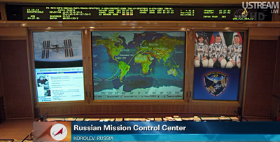 Mission Control Centre in Korolev, near Moscow, 6 April 2011.