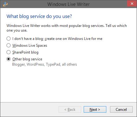 Add a Blog in Writer