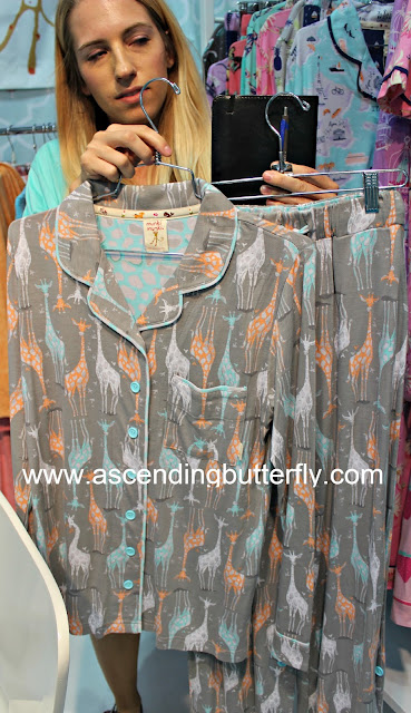 munki munki, giraffe pajamas, loungewear, MODE LINGERIE AND SWIM CURVEXPO 2015