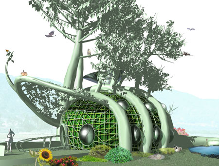Green Architecture on Amazing Elements Of Green Architecture   Environment Clean