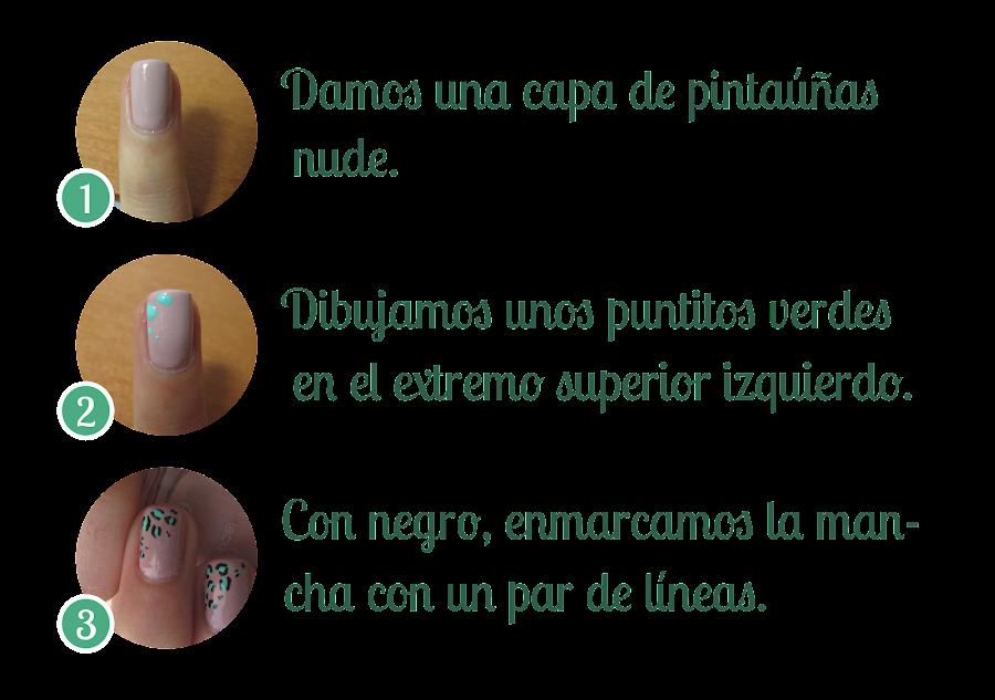 Tutorial de uñas: Animal print discreto