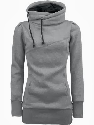 Adorable cute grey hoodie style fashion