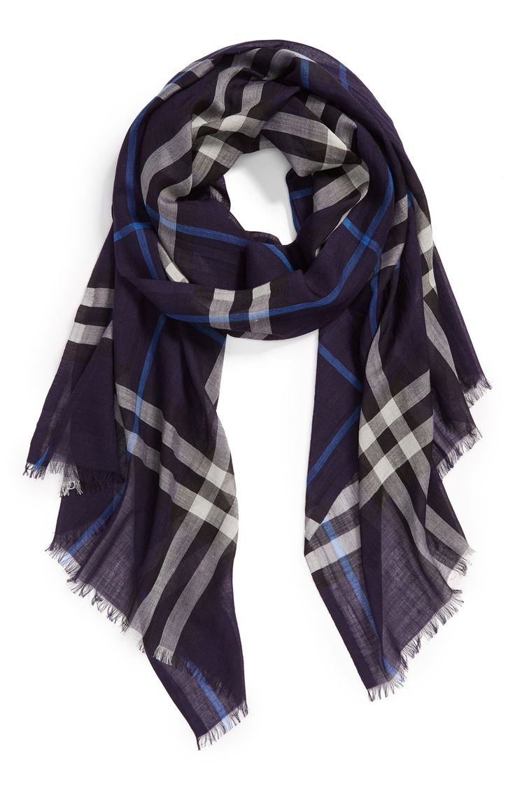 Gorgeous Navy Burberry Scarf