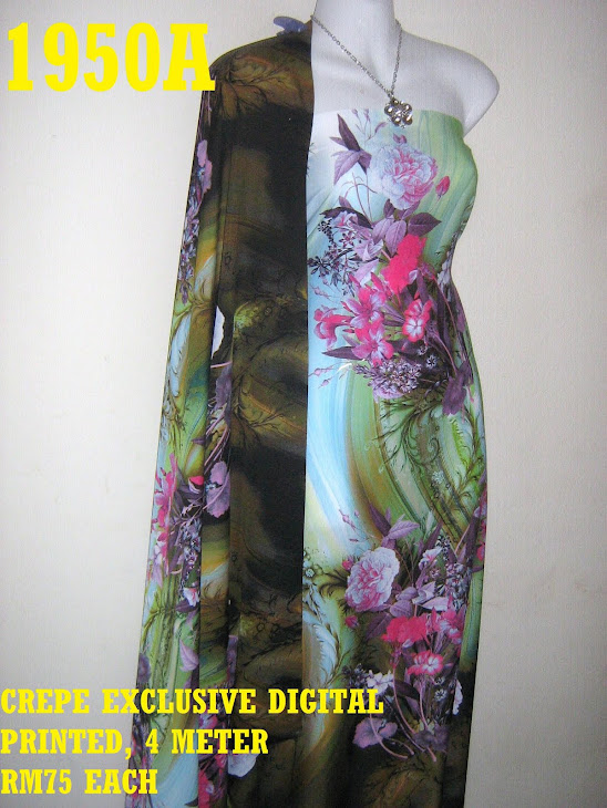 CDP 1950A: CREPE EXCLUSIVE DIGITAL PRINTED, 4 METER