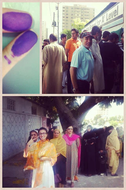 Pakistan Celebrities voted for Pakistan
