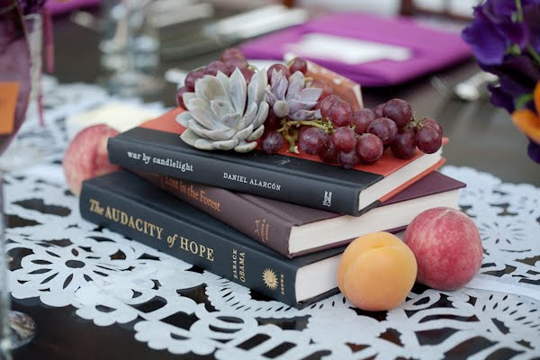 wedding centerpiece books