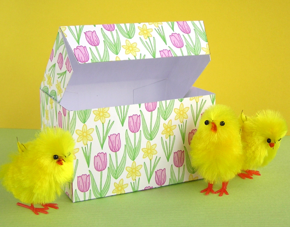 Hazel fisher creations printable easter gift boxes printable easter gift boxes negle Gallery