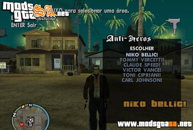SA - Mod Escolher Personagens dos GTA's