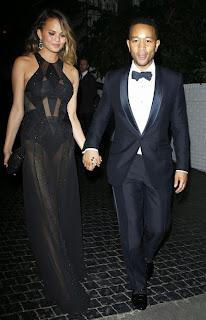 Кристин Тейгън и Джон Леджънд на афтер парти Грами 2014