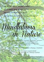 MINDFULNESS IN NATURE WORKSHOP