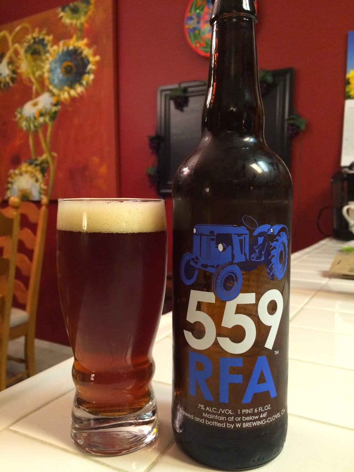 W Brewing RFA Ale 1