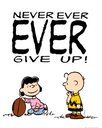 Never Give Up Charlie Brown