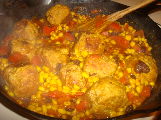Southwest Meatball Skillet