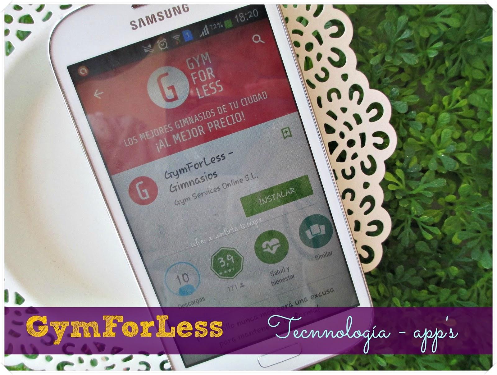 GymForLess, la app para planificar tu ejercicio en el gimnasio