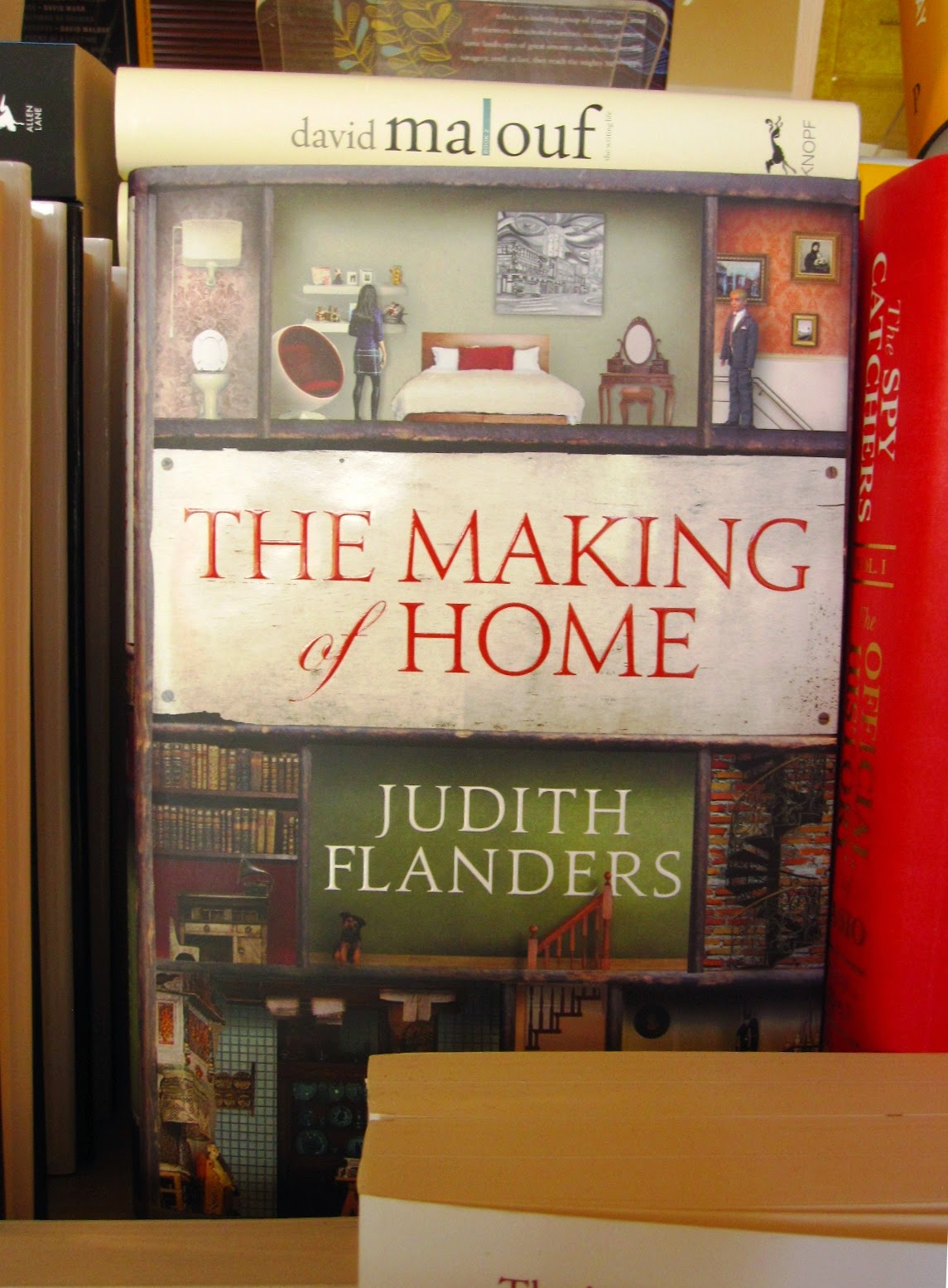Copy of the book 'The Making of Home' on display in a book shop.