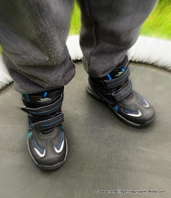 J models his walking boots  - Giz Gaz by Trespass