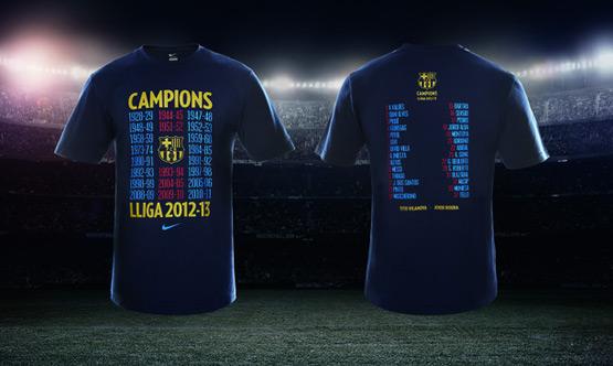 Camiseta Conmemorativa FC Barcelona Campeones de Liga 2012-2013