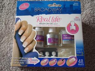 Amber likes beauty broadway brush on gel nail kit review for Acrylic nails walmart salon