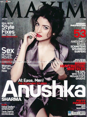 Anushka Sharma Hot On The Cover Page Of Maxim