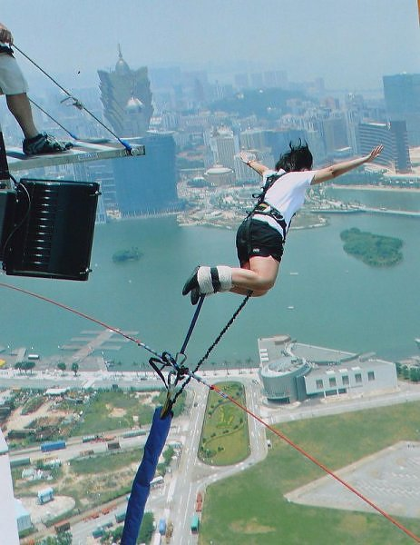 jembatan, tower, bridge, bunggee jumping, lompat tinggi, macau tower