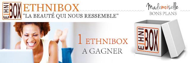 Jeu Ethni'Box & Mademoiselle Bons Plans: 1 box beauté à gagner
