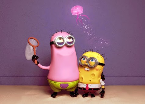 Minion Patrick e Minion Esponja