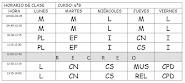 HORARIO DE CLASES 6ºB