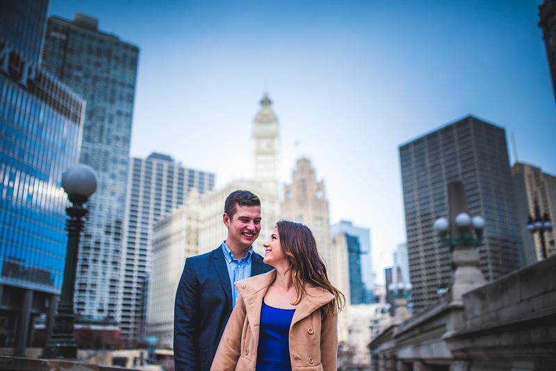 Chicago Wedding Engagement Photo