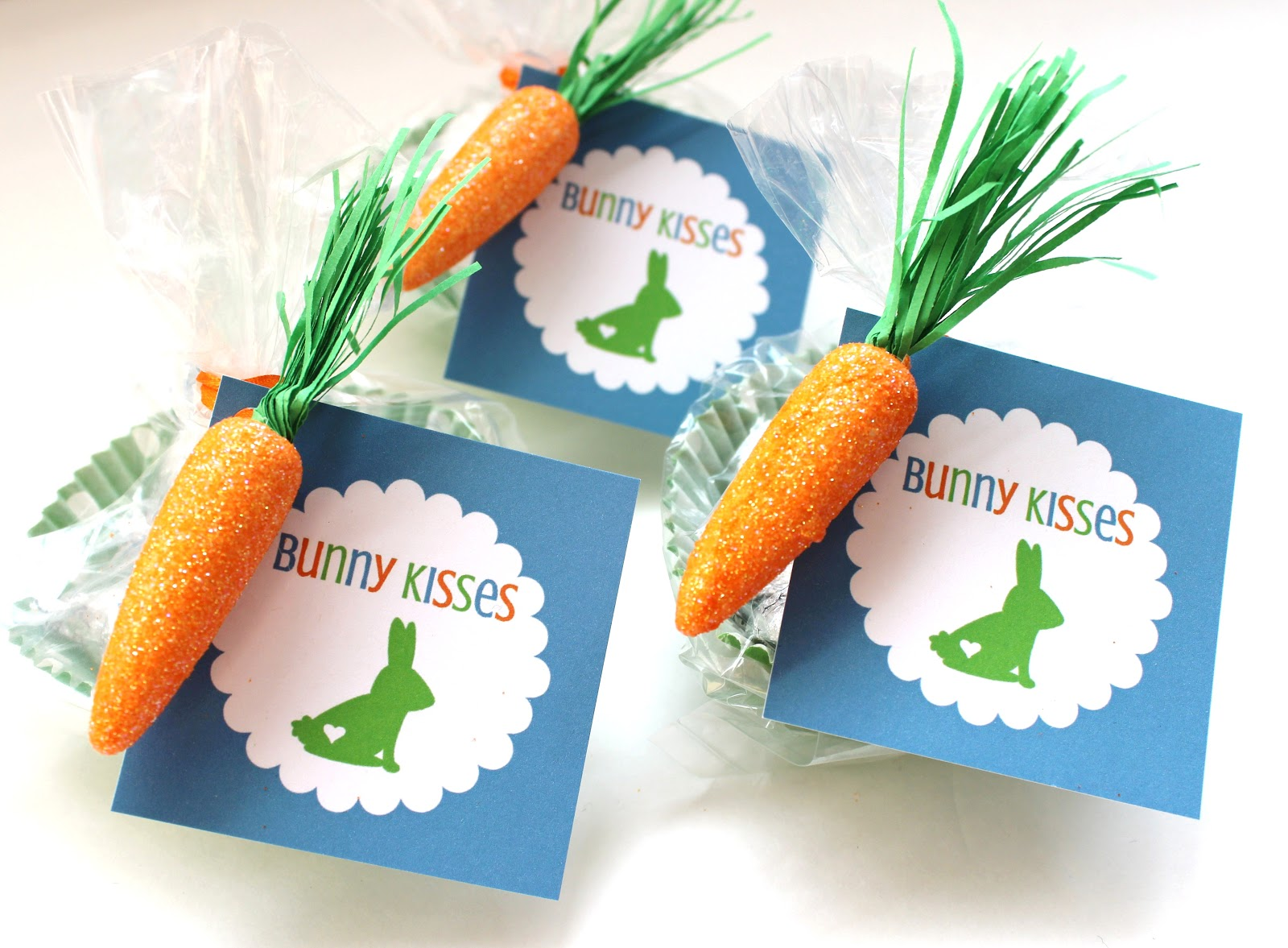 Easter printable tags bunny kisses treat bags delightfully noted printable easter tags easter favor ideas negle Gallery